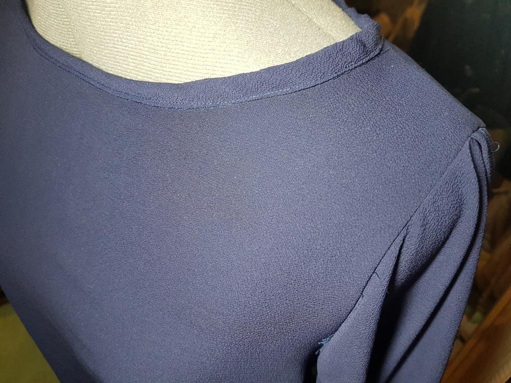 bias strip and neckline